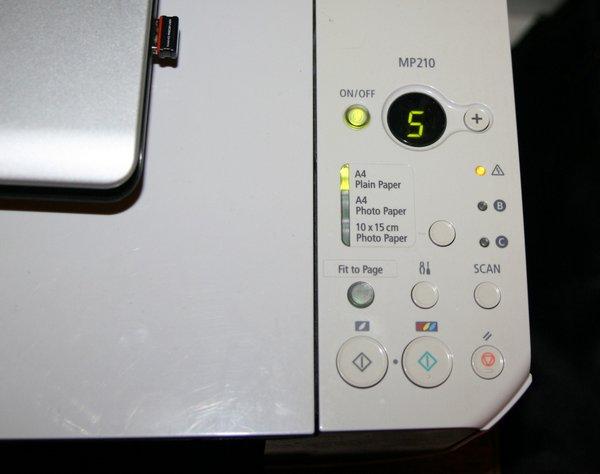 Код Ошибки Canon Mp210