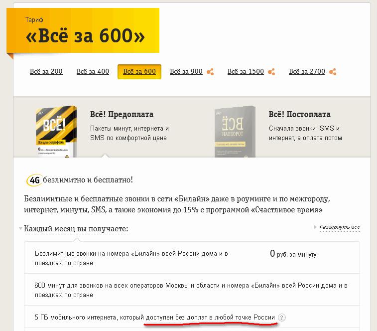 Билайн: Россия не везде Россия